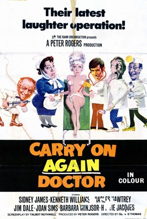 Framed Carry on Again Doctor Print