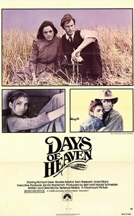 Framed Days of Heaven Richard Gere Print
