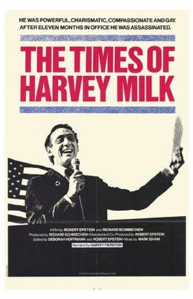 Framed Times of Harvey Milk Print