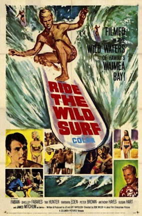 Framed Ride the Wild Surf Print