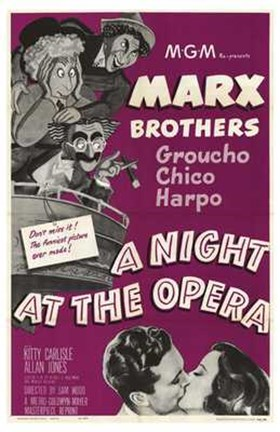 Framed Night At the Opera Marx Brothers Print