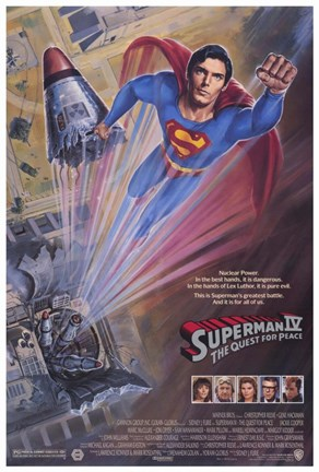 Framed Superman 4: the Quest for Peace Movie Print