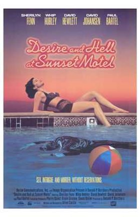 Framed Desire and Hell At Sunset Motel Print