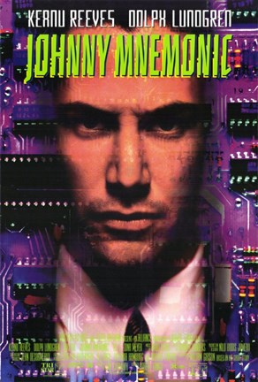 Framed Johnny Mnemonic Print