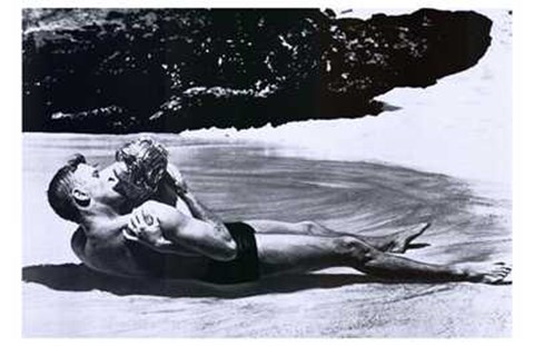 Framed from Here to Eternity - black and white Print