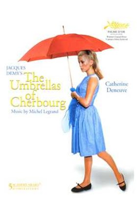 Framed Umbrellas of Cherbourg Red Umbrella Print