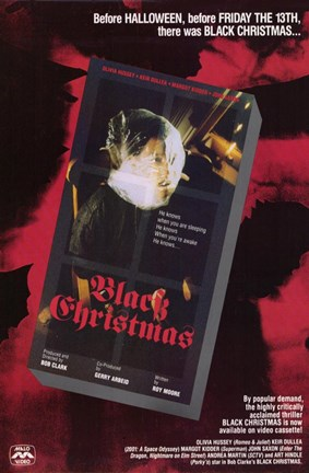Framed Black Christmas Print