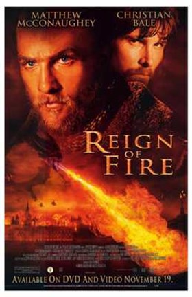 Framed Reign of Fire Movie McConaughey And Bale Print