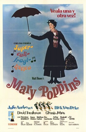 Framed Mary Poppins (spanish) Print