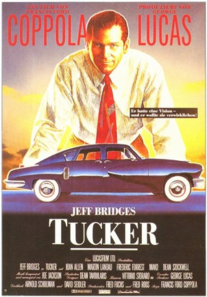 Framed Tucker: the Man and His Dream Blue Classic Car Print