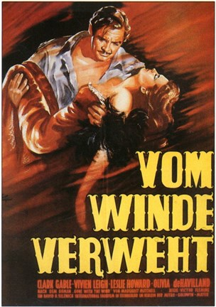 Framed Gone with the Wind Vom Winde Verweht Print