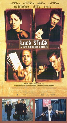 Framed Lock Stock and 2 Smoking Barrels Tall Print