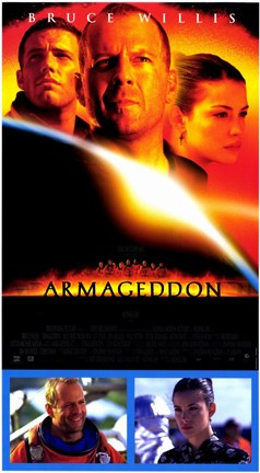 Armageddon Cast With Scenes Wall Poster By Unknown At