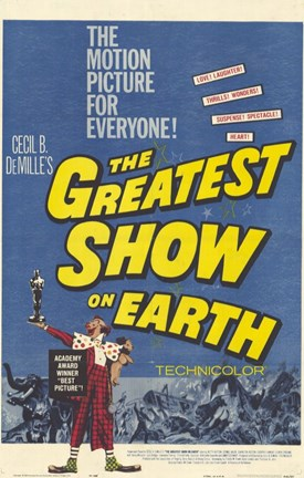 Framed Greatest Show on Earth Movie Print