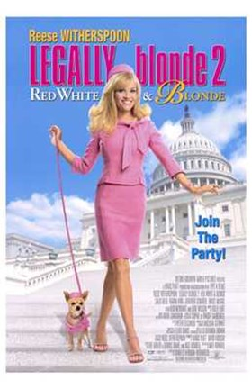 Framed Legally Blonde 2: Red  White Blonde Print