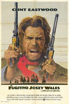 Framed Outlaw Josey Wales Spanish Print