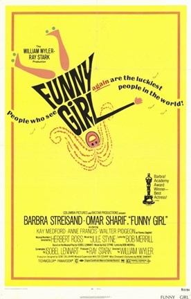Framed Funny Girl Omar Sharf Print