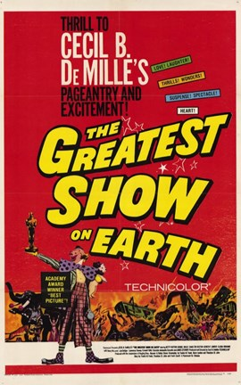 Framed Greatest Show on Earth De Milles Print