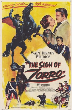 Framed Sign of Zorro Print