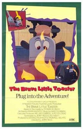 Framed Brave Little Toaster Print
