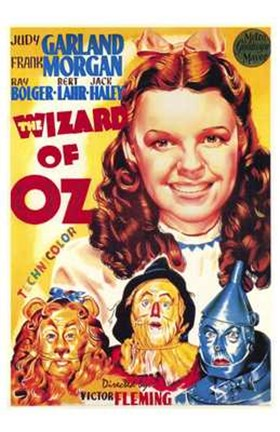 Framed Wizard of Oz Cartoon Print