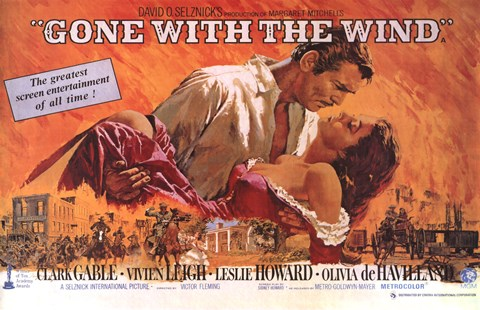 Framed Gone with the Wind  Horizontal Close Up Print