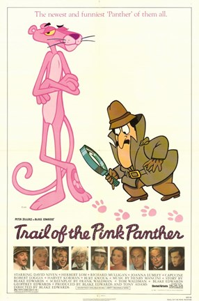 Framed Trail of the Pink Panther movie poster Print