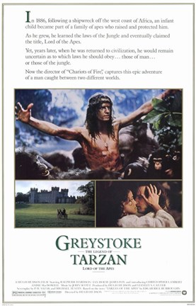 Framed Greystoke: The Legend of Tarzan, Lord of the Apes, c.1984 Print