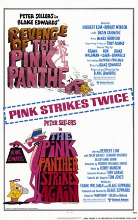 Framed Pink Panther Strikes Again-Revenge of Pi Print