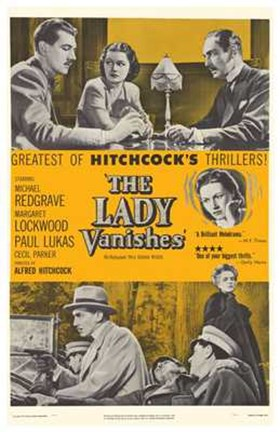 Framed Lady Vanishes - yellow Print