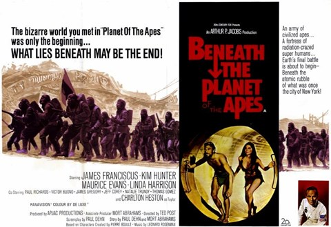 Framed Beneath the Planet of Apes - wide Print