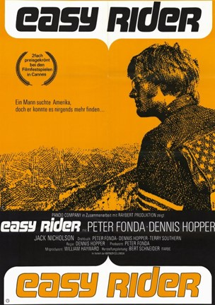 Framed Easy Rider Orange Print