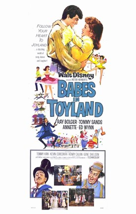 Framed Babes in Toyland - tall Print