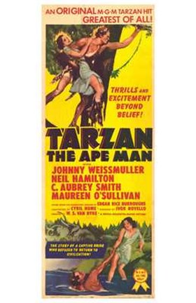 Framed Tarzan the Ape Man, c.1932 Print