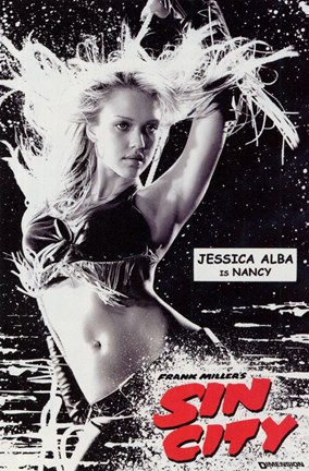 Framed Sin City Jessica Alba as Nancy Print