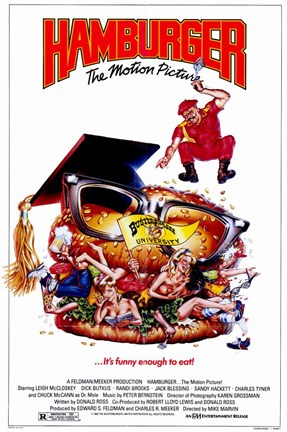 Framed Hamburgerthe Motion Picture Print