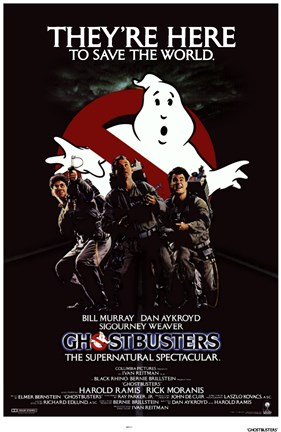 Framed Ghostbusters They're Here Print