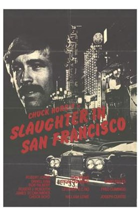 Framed Slaughter in San Francisco Print