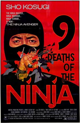 Framed Nine Deaths of the Ninja Print
