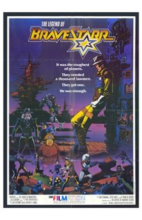 Framed Legend of Bravestarr Print