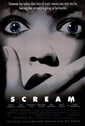 Framed Scream Movie Print