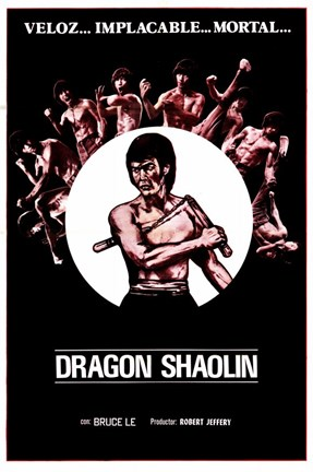 Framed Dragon Shaolin Print