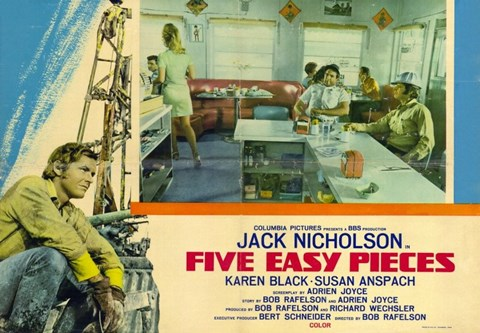 Framed Five Easy Pieces Jack Nicholson Print