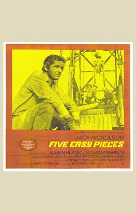 Framed Five Easy Pieces Yellow Orange Print