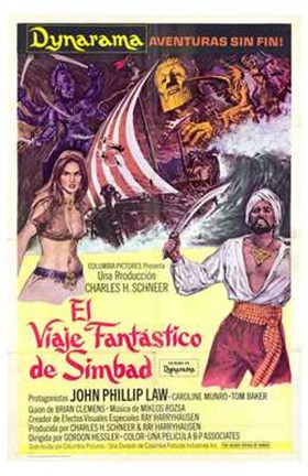 Framed Golden Voyage of Sinbad Print