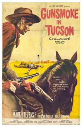 Framed Gunsmoke in Tucson Print