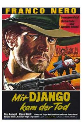 Framed Django  His Pride and Vengeance Print