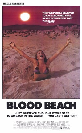 Framed Blood Beach Print