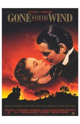 Framed Gone with the Wind Scarlett O'Hara & Rhett Butler Print