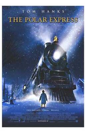 Framed Polar Express Christmas Train Print